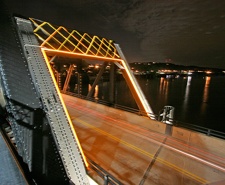 South Portal of the Hot Metal Bridge Lighted With Fiber Optics and LED Technology