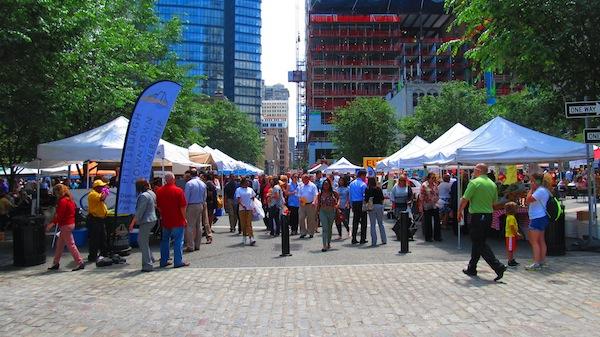 The Thursday Farmer's Market in the Square
